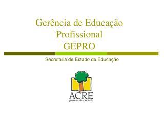 Gerência de Educação Profissional  GEPRO