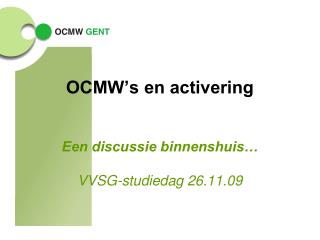 OCMW's en activering