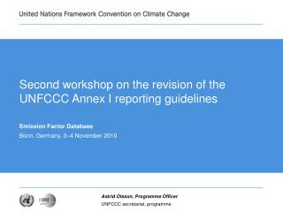 Second workshop on the revision of the UNFCCC Annex I reporting guidelines