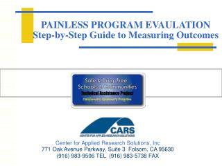 PAINLESS PROGRAM EVAULATION Step-by-Step Guide to Measuring Outcomes