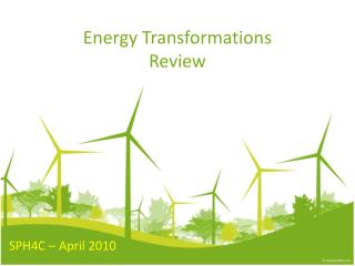 Energy Transformations Review