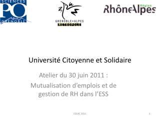Université Citoyenne et Solidaire