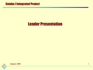 Lender Presentation