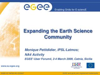 Expanding the Earth Science Community
