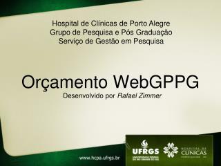 Orçamento WebGPPG