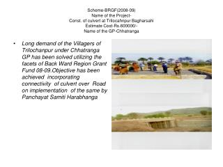 Imp. Of road from Arkhapadar PWD road to Nuakodasinga Scheme-MGNREGA Estiamted Cost-Rs.622790/-