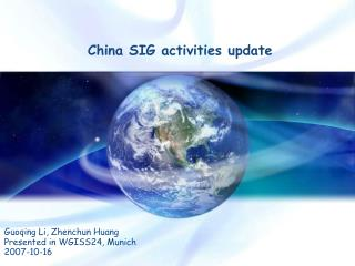 China SIG activities update