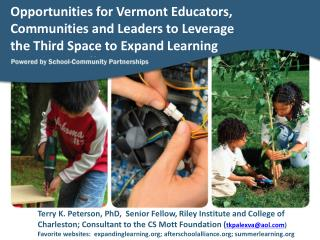 New and Continuing Challenges Facing Vermont