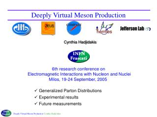 Deeply Virtual Meson Production