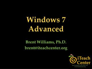 Windows 7 Advanced