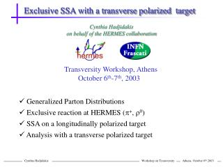 Exclusive SSA with a transverse polarized  target