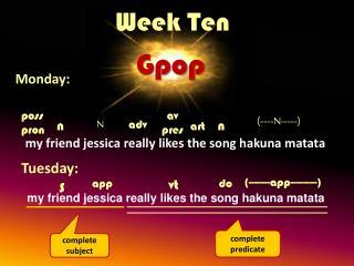 Week Ten