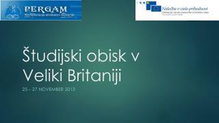 Študijski obisk v Veliki Britaniji