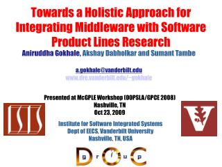 Towards a Holistic Approach for Integrating Middleware with Software Product Lines Research