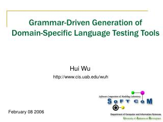 Grammar-Driven Generation of Domain-Specific Language Testing Tools