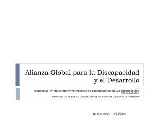 Alianza Global para la Discapacidad y el Desarrollo