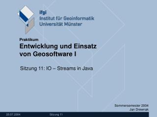 Sitzung 11: IO � Streams in Java