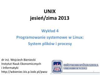 UNIX jesień/zima 2013