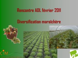 Rencontre ADL février 2011 Diversification maraîchère
