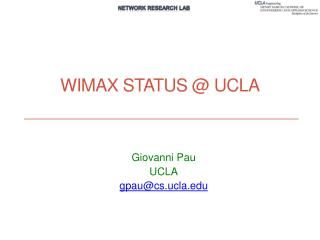WiMax  Status @ UCLA