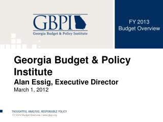 FY 2013  Budget Overview