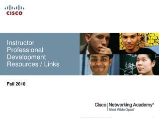 Instructor Professional Development Resources / Links