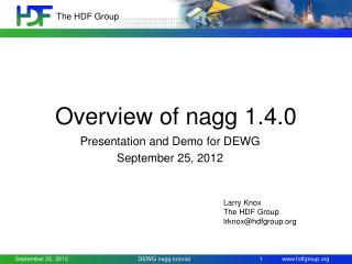 Overview of nagg 1.4.0