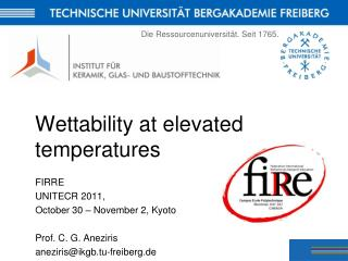 Wettability at elevated temperatures