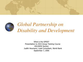 Global Partnership on Disability and Development