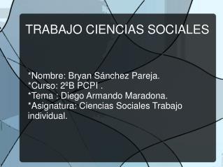 TRABAJO CIENCIAS SOCIALES