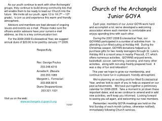 Church of the Archangels Junior GOYA