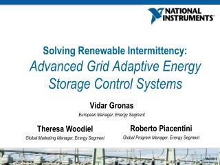 Solving Renewable Intermittency:  Advanced  Grid Adaptive Energy Storage Control Systems