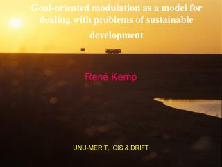 Goal-oriented modulation as a model for dealing with problems of sustainable development