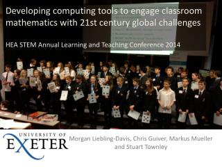 Developing computing tools to engage classroom mathematics with 21st century global  challenges