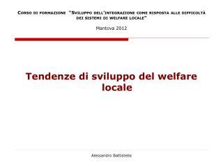 Tendenze di sviluppo del welfare locale