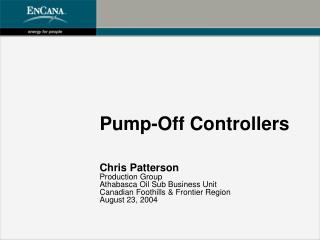 Pump-Off Controllers