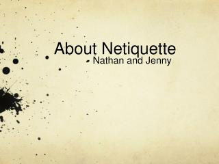 About Netiquette