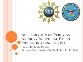Acceleration of Peruvian Anchovy Individual Based Model on a Single GPU
