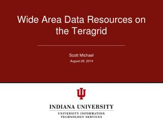 Wide Area Data Resources on the Teragrid