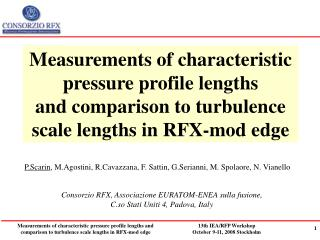 Measurements of characteristic pressure profile lengths  and comparison to turbulence