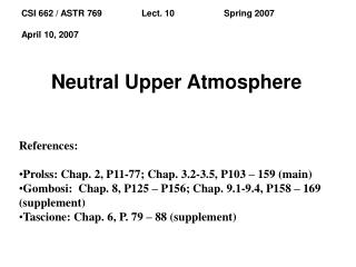 Neutral Upper Atmosphere