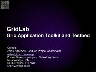 GridLab Grid Application Toolkit and Testbed