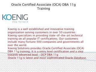 OCA DBA 11g Training