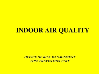 Indoor Air Quality:  Materials and Design