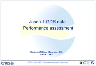 Jason-1 GDR data Performance assessment