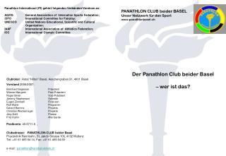 PANATHLON CLUB beider BASEL Unser Netzwerk für den Sport panathlonbasel.ch