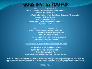 GOGS INVITES YOU FOR
