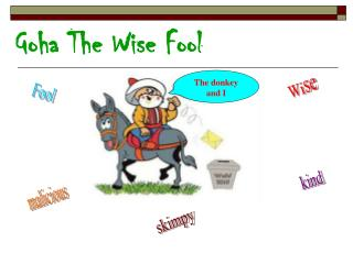 Goha The Wise Fool
