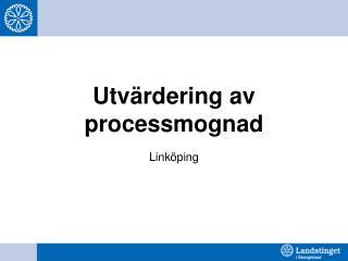 Utvärdering av processmognad