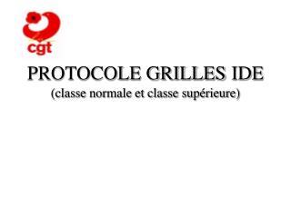 PROTOCOLE GRILLES IDE classe normale et classe sup rieure